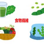 食物繊維が含まれる食品(野菜・青汁・豆類・海藻)