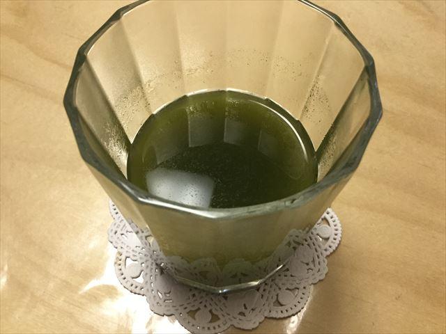 マイケア「ふるさと青汁」水で割ってみた