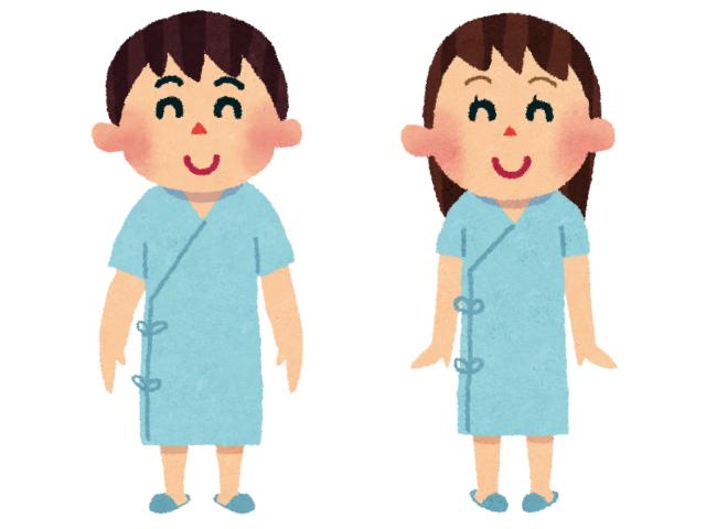 健康診断を受ける男性と女性