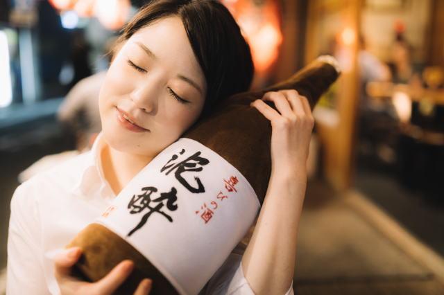 お酒(日本酒)が好きな女性