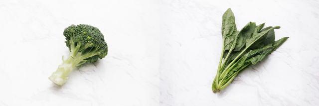 ブロッコリーと小松菜